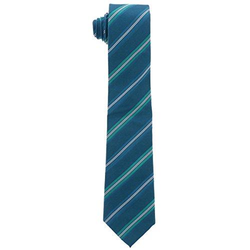 Sean John Mens Silk Striped Regular Tie Green O/S