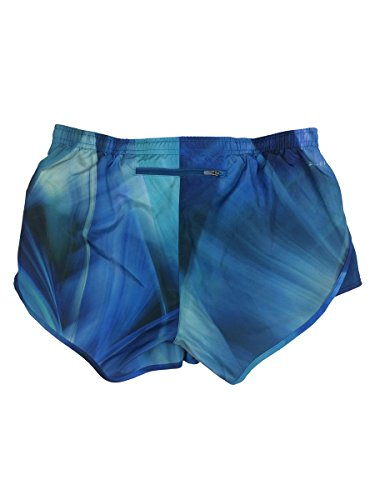 Nike Womens Dri-Fit 3.5'' Modern Tempo Running Shorts w/Brief Liner Watercolor (Small, Blue) by Nike (Image #1)