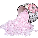 Rose Stones, Crystals Gravel Quartz Tumbled Stone Pink Pebble Irregular Shaped Stones for Vase Filler, 1 Pounds(approx 800)