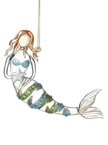 416-aw1S-BL Amazing Mermaid Christmas Ornaments