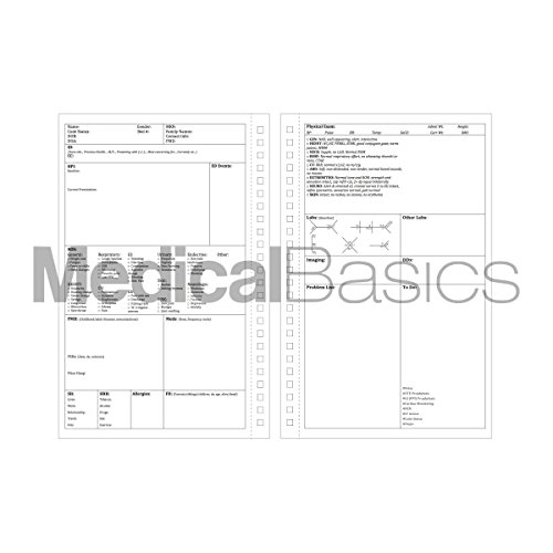 Progress & H&P + 4 Day SOAP Notebook - Progress Note + Medical History and Physical notebook, 50 templates with perforations by Medical Basics (Image #2)