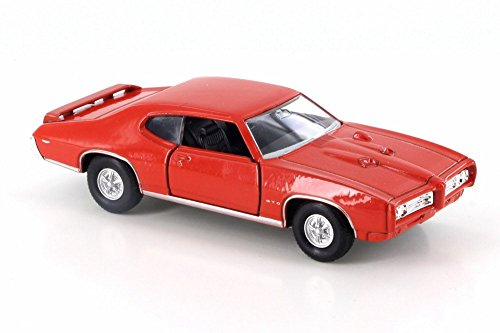 Welly 1969 Pontiac GTO, Orange 43714D - 4.5