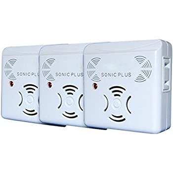 Riddex Sonic Plus Pest Repellers With Side Outlets, Set of 3