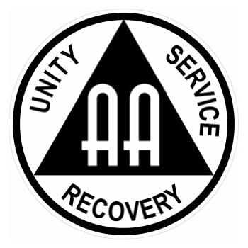 amazoncom aa alcoholics anonymous symbol color sticker