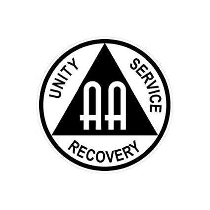 amazon com aa alcoholics anonymous symbol color sticker decal