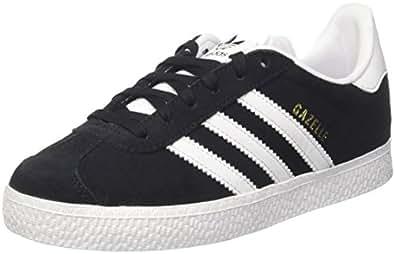 adidas Gazelle, Zapatillas Unisex Niños, Negro (Core Black/Ftwr White/Gold Metallic), 28 EU