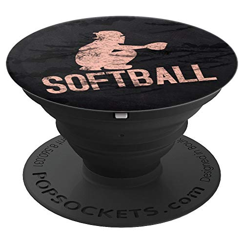 Softball Catcher - Sports Series - PopSockets Grip and Stand for Phones and Tablets