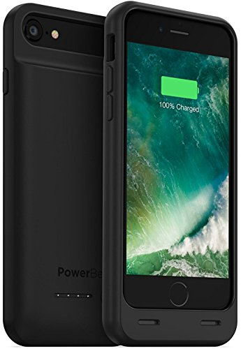 PowerBear iPhone 7 Battery Case / iPhone 8 Battery Case (MFI) [3100mAh] High Capacity Rechargeable Charger Pack for Apple iPhone 7/8 (Up to 160% Extra Battery) - BLACK [24 Month Warranty]