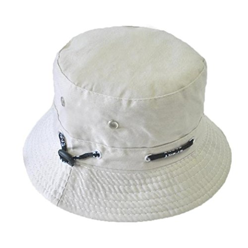 Aniywn Clearance Price! Men Women Unisex Cotton Bucket Hat Double Side Fishing Boonie Bush Cap Visor Sun (Free Size, White)