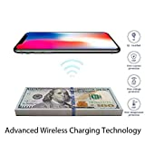iphone 4 portable charger case - Fast Wireless Charger,10.8W COSOOS Qi Certified Wireless Phone Charger Compatible for iPhone X/8/8 Plus,Samsung Galaxy S9/S9+/S8/S8+/S7/Note 8,Google Nexus 7/6,LG,Nokia (Dollar Design,No AC Adapter)