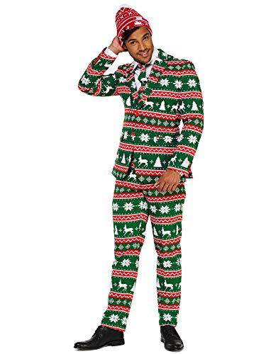 Mens Opposuits Green Suit - OppoSuits Christmas Suits for Men in