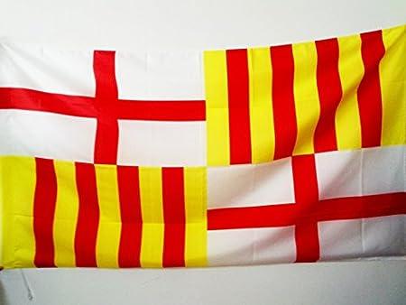 AZ FLAG Bandera de la Ciudad DE Barcelona 90x60cm para Palo ...
