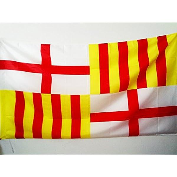 AZ FLAG Bandera de la Ciudad DE Barcelona 150x90cm para Palo - Bandera BARCELONESA 90 x 150 cm: Amazon.es: Hogar