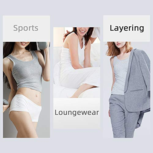 TAIPOVE 3 Packs Ladies Cami Camisole Tank Top Built in Shelf Bra Bust Hidden Support Lingerie Stretch Shirt Athletic Yoga Running Gym Vest Casual Nightwear Outdoor for Women