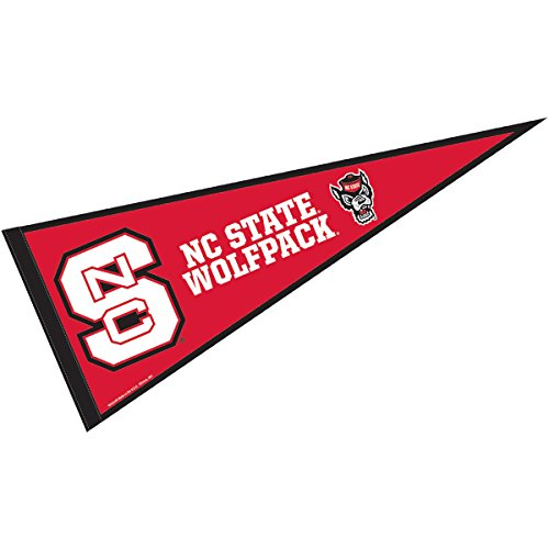 College Flags and Banners Co. NC State Wolfpack Pennant Full Size Felt