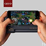 "GEE·D H1 Joystick Phone Game Controller with Phone Stand Holder, Comfortable Hand Grip Mobile Joystick Gamepad Gaming Joystick Game Controller Case with Joystick for iPhone Android 4.5""-6.0"", Grey"