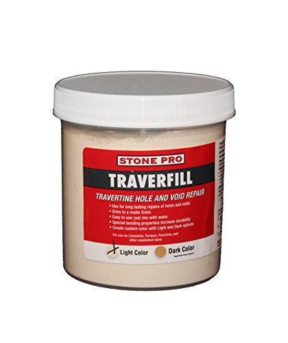 Stone Pro Traverfill - Travertine Hole and Void Repair - 1 Pound - Light (Solid Surface Material)