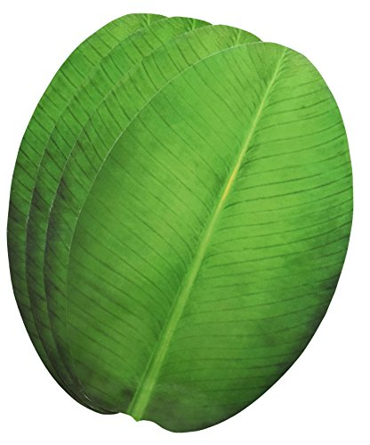 Banana Plate Leaf - Exquisite Laminated Paper Sheets Banana Leaf Shape Table Placement/Dinning Mat Set of 4 Pcs/Diwali/Christmas