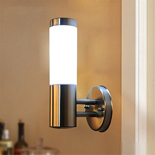 CGHYY Acrylic Outdoor Waterproof Stainless Steel Wall Lamp Waterproof Security Lamp Outdoor Wall Light for Patio, Deck, Garden, Garage,Wall,Should Be 7.5Cm High (Deck 7.5 Resin)