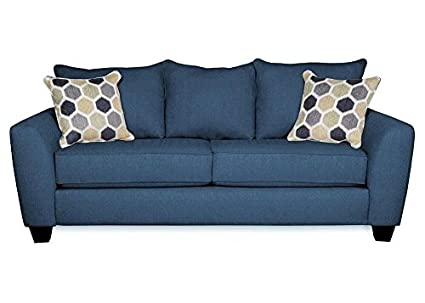 THE ROOMPLACE Heritage Blue Queen Sleeper Sofa   Wedge