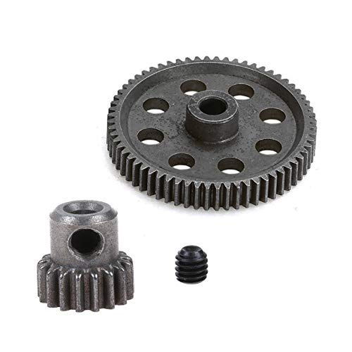 ShareGoo RC 11184 Spur Differential 64T Metal Main Gear & 11119 Pinion 17T Motor Gear,Replacement Gear Combo for Redcat Volcano EPX HSP 1/10 Monster Truck Car