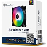 SilverStone Technology AB120R-ARGB Air Blazer 120mm PWM Addressable RGB Radiator and Heatsink Case Fan