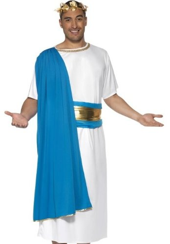 Roman Senators Costume (Smiffys Costumes Adult, Roman Senator Costume, Medium, 1 ea)
