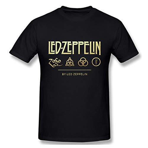 Yksth Tee Black Led Zeppelin Mens Leisure T Shirts 5XL