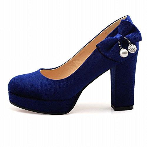 Damen Block Slip Charm Blau On Heel High Mee Pumps Shoes 5qxFwXCnZa