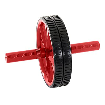 ProSource Dual Ab Wheel Roller Abdominal Exercise Equipment with Comfortable, Easy Grip Handles