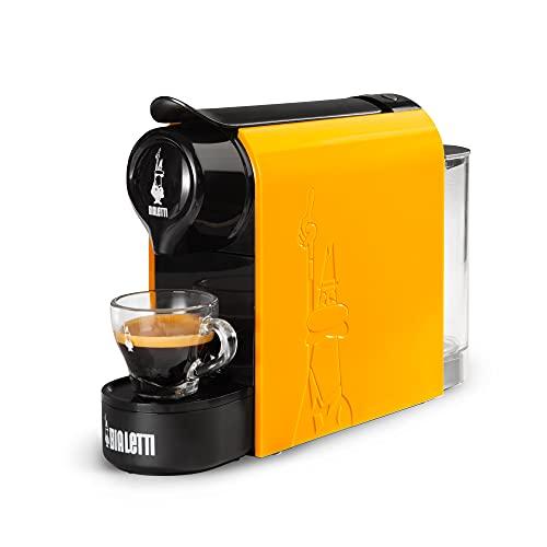 Bialetti Gioia, cafetera expreso para cápsulas de aluminio, sistema Bialetti Il Caffè d'Italia, supercompacta, ocre