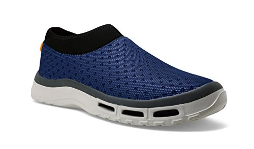 Fishing Boat Boot - SoftScience The Fin H2O Men's Fishing/Boating Shoes - Blue, Size 11