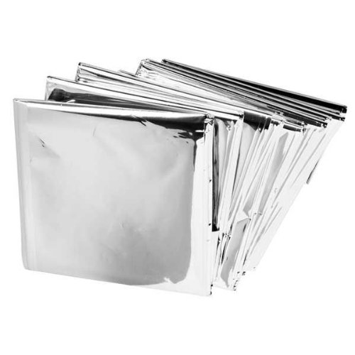 "Lot of 50 Emergency Mylar Blankets 84"" x 52"""