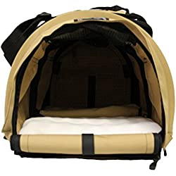 Sturdi Products StrudiBag Double Sided Divided Pet Carrier, Large, Earthy Tan