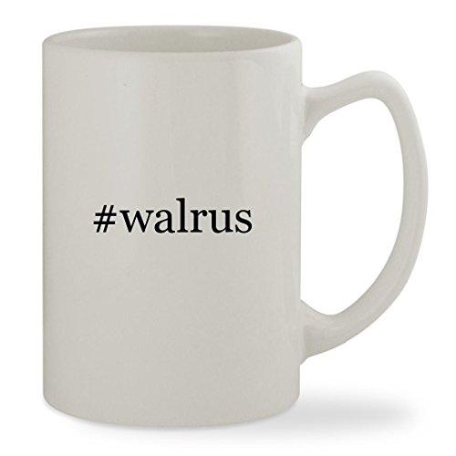 #walrus - 14oz Hashtag White Statesman Sturdy Ceramic Coffee Cup Mug (The Beatles Walrus Costume)