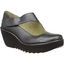 Fly London YASI682FLY, Zapatos de cuña para Mujer, Grafito Gris 047, 38 EU