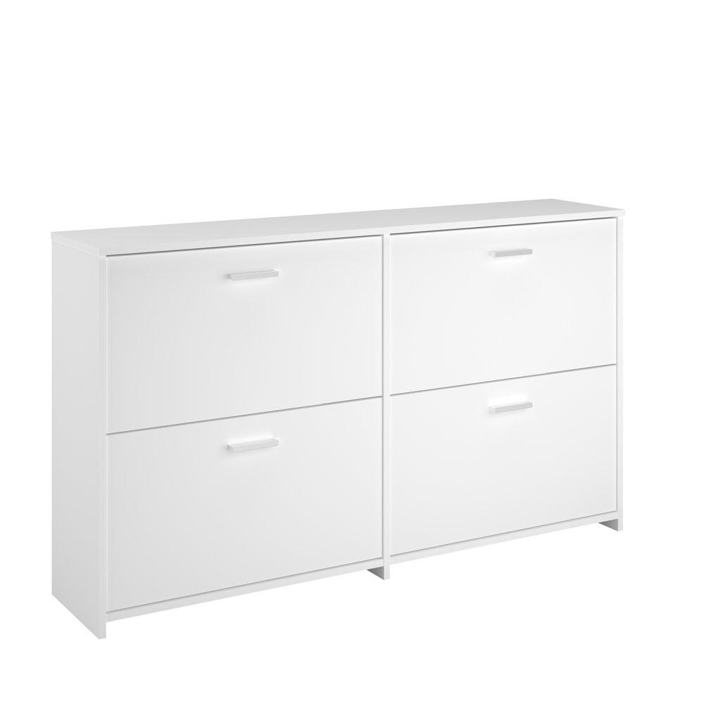 INFINIKIT CLIP Schuhschrank mit vier Schubladen – Weiß