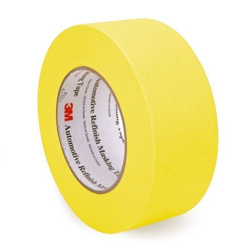 3M 06656 Crepe Paper Automotive Refinish Masking Tape, 28 lbs/in Tensile Strength, 60 yds Length x 2