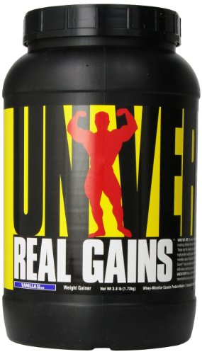 Real Gains Weight Gainer with Complex Carbs and Whey-Micellar Casein Protein Matrix Vanilla 3.8#