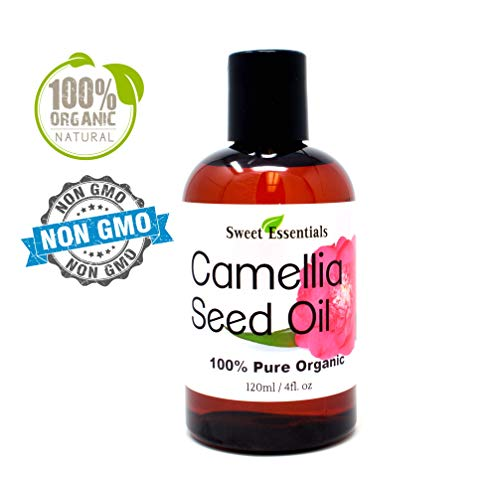(Organic Camellia Seed Oil | Imported From Japan | 4oz Bottle | 100% Pure | 100% Organic | For Hair & Skin Use | Japanese Beauty Oil | Camellia Oleifera)