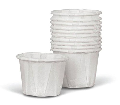 Medline Disposable Paper Souffle Cups, White, 250 Count