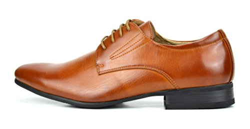Bruno Marc Men's Gordon-03 Brown Leather Lined Snipe Toe Dress Oxfords Shoes – 11 M US