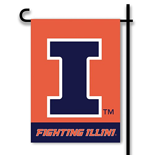 - NCAA Illinois Illini NCAA 2-Sided Garden Flag, Orange,