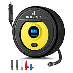DeepDream Tyre Inflator Digital 12V 150PSI Auto Car Tyre Pump Portable Air Compressor with 35L/Min Air Flow and LED… Amazon choices [tag]