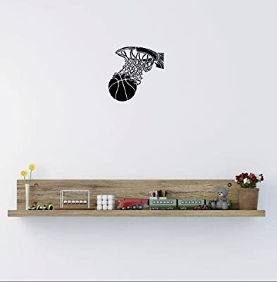 Top Selling Decals - Prices Reduced : Vinyl Wall Sticker : Basketball Player Sports Boy Girl Teen Bedroom Bathroom Living Room Picture Art Peel & Stick Mural Size: 10 Inches X 15 Inches - 22 Colors Available