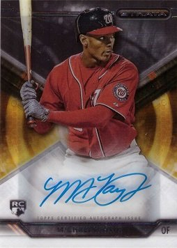2015 Topps Strata #SA-MTR Michael Taylor Certified Autograph Baseball Rookie Card (Signed Taylor Autograph)