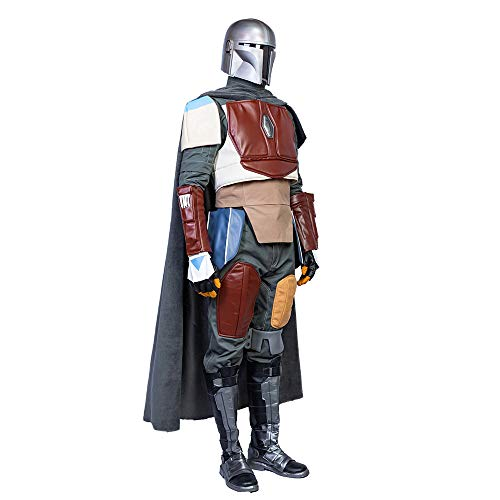 Mandalorian Cosplay Mask /& Costume Outfit Suit for Mens Halloween Role Play
