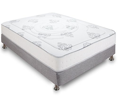 Classic Brands Decker 10.5 Inch Hybrid Memory Foam and Innerspring Mattress, Full Size