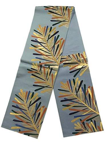 特別にハウスバングラデシュリサイクル 袋帯 金彩若松文 正絹 六通