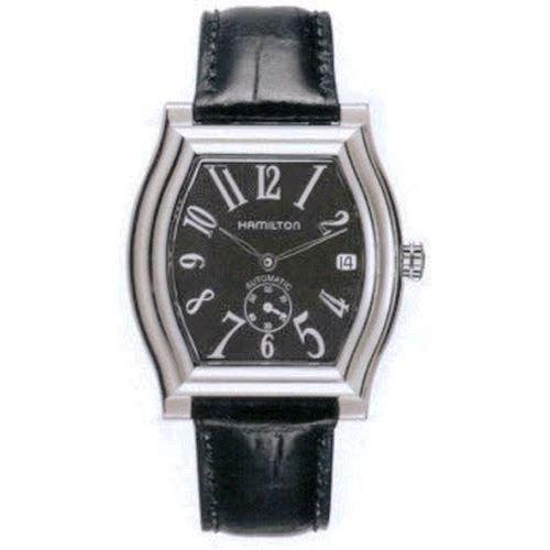 Hamilton Dodson Large Auto H27415733 - Reloj de caballero automático, correa de piel color negro